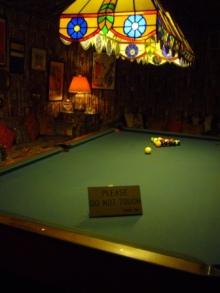 アラバマ生活雑記帳-Graceland pool table