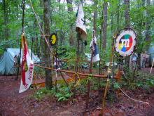 $アラバマ生活雑記帳-camp site decorations
