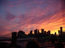 $アラバマ生活雑記帳-夕暮れのマンハッタン