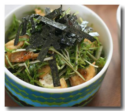 水菜のサラダ丼