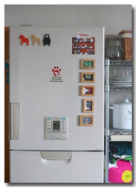 冷蔵庫にくっつけた