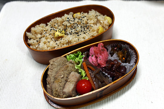 栗ご飯弁当