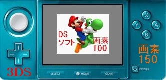 3DSでDSソフトを表示