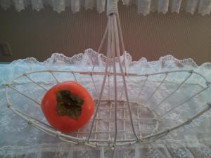柿を添えて