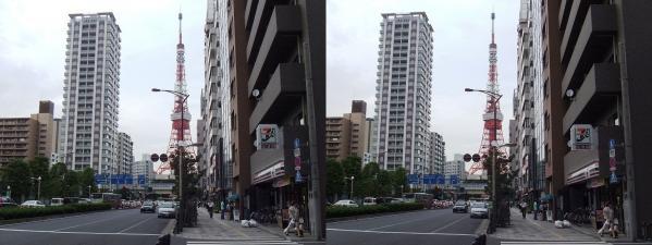 三田からの東京タワー(交差法)