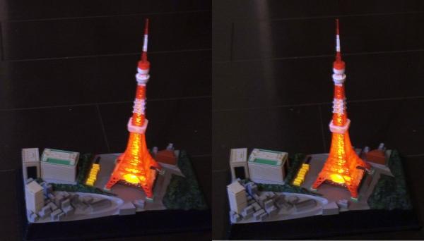 東京タワー模型(平行法)