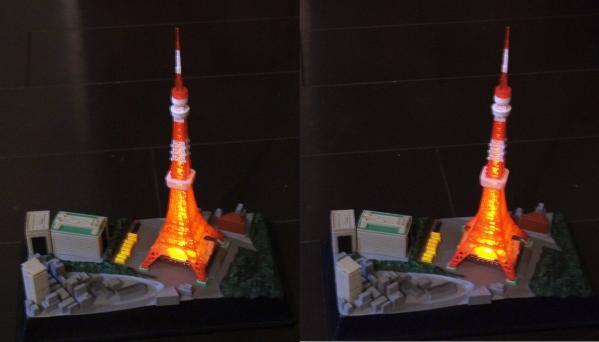 東京タワー模型(交差法)