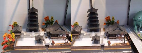 寺院模型(平行法)