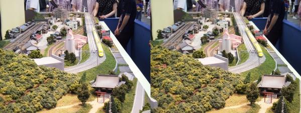 鉄道模型③(交差法)