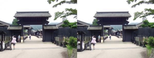 箱根関所(平行法)