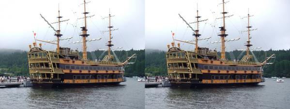 箱根海賊船ビクトリー号⑤(交差法)