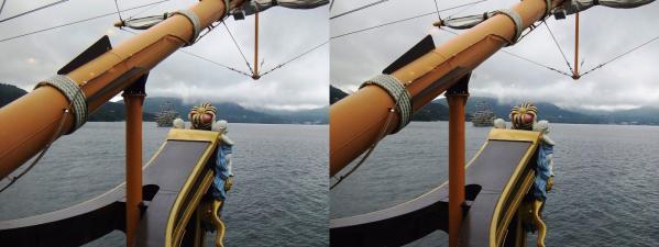 箱根海賊船ビクトリー号③(交差法)