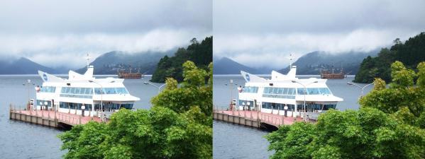 芦ノ湖遊覧船(交差法)