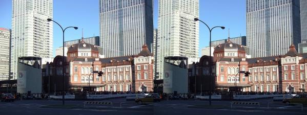 新東京駅舎①(交差法)