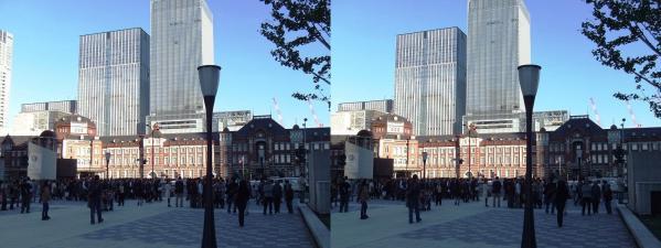 新東京駅舎②(交差法)