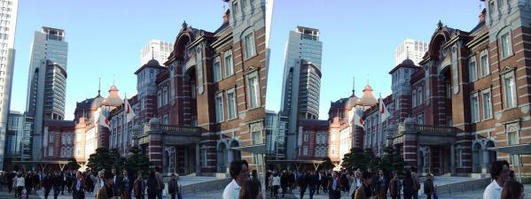 新東京駅舎⑧(交差法)