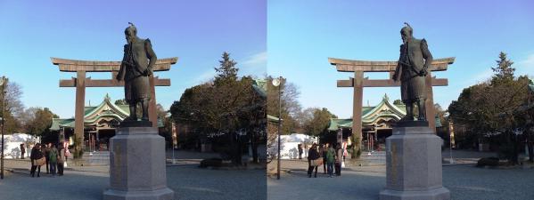 大阪城 豊國神社(平行法)