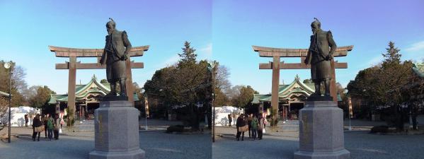 大阪城 豊國神社(交差法)