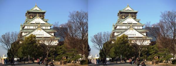 大阪城⑥(平行法)
