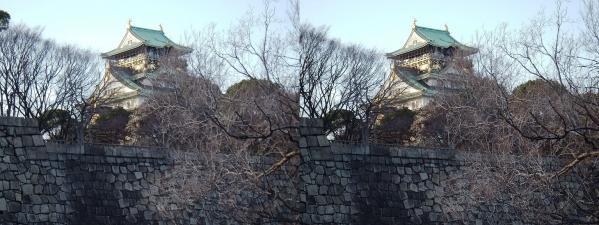 大阪城⑦(交差法)