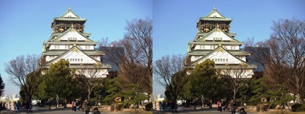 大阪城⑥(交差法)