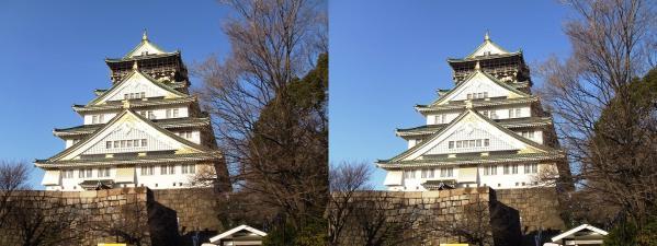大阪城⑤(平行法)