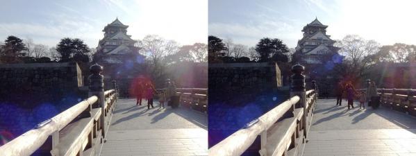 大阪城②(交差法)