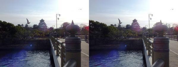 大阪城①(平行法)