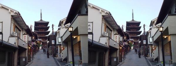 法観寺 八坂の塔②(平行法)
