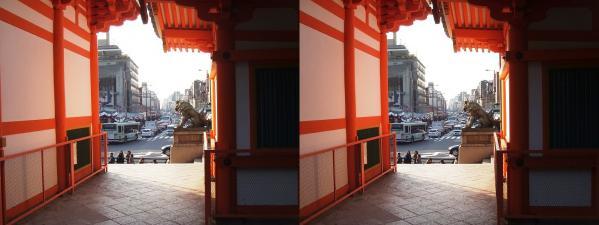 八坂神社②(交差法)