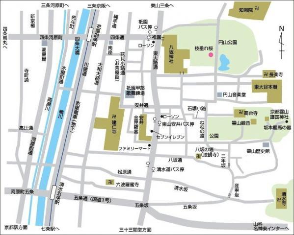 東山・祇園MAP