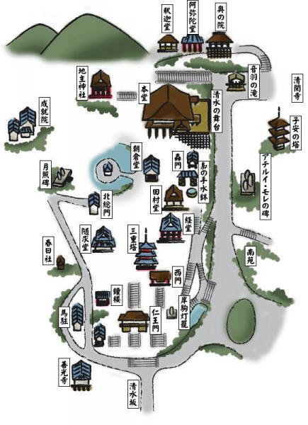 清水寺マップ