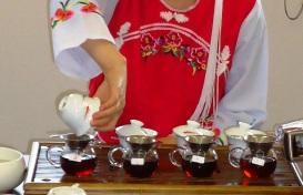 熟茶の飲み比べ