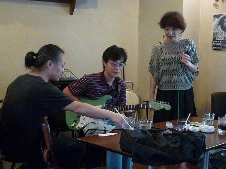 g村山義光講師とギターとボーカルのユニット受講者
