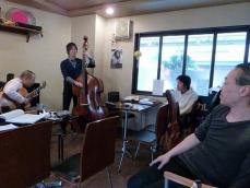 ギター受講者とベース受講者