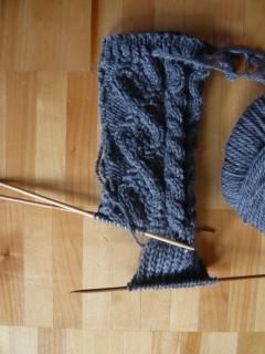 編み編み。