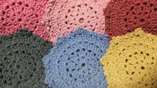編み コースター
