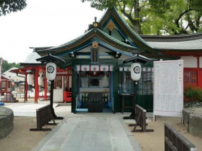 松原神社河童の木像 1