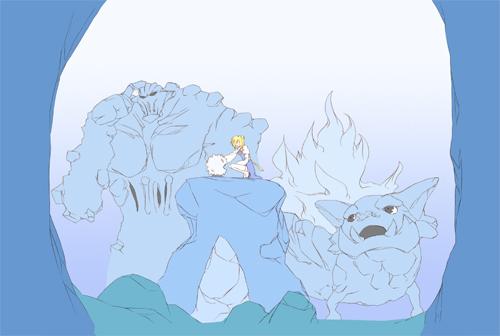 氷の洞窟ぬりまえ