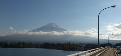 河口湖大橋から富士