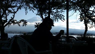 富士を眺めながらランチ