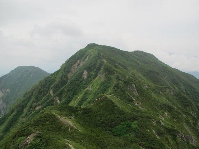 K2ピークからの霞沢岳