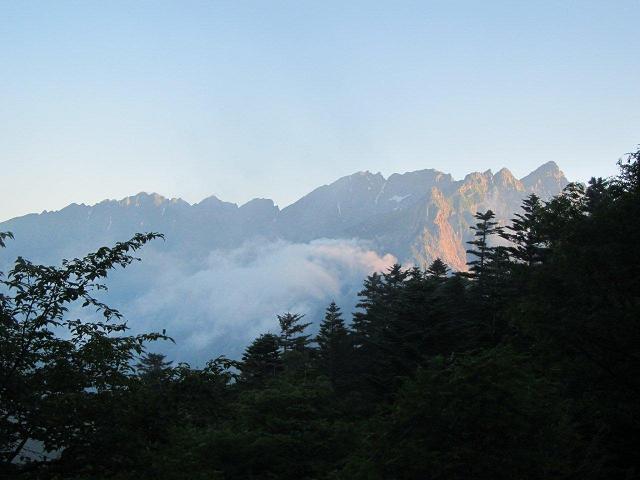 徳本峠からの穂高連峰