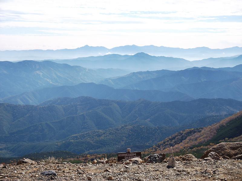 肩の小屋から見た南アルプス