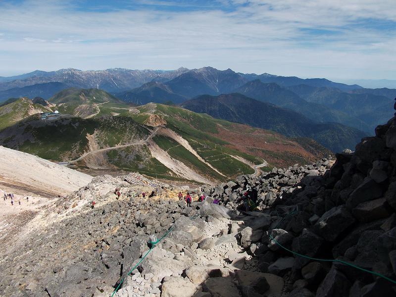 山頂近くから見た北アルプス