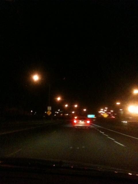 Driving through Nighttime Honolulu