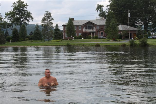 Swimming in Lake George