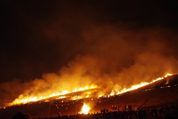 若草山山焼き1月