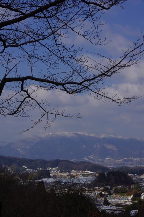 甘樫丘 金剛葛城の冠雪