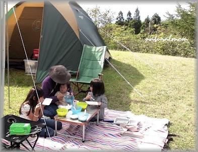 キャンプで芋煮